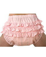 PVC Adult Baby Nappy Pants with frills