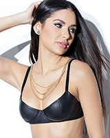 Matte Wetlook Bra with Removable Chains