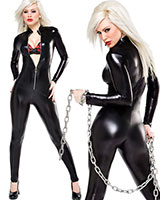 Catsuit im Wetlook