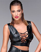 Powerwetlook Bustier Top with Lacing