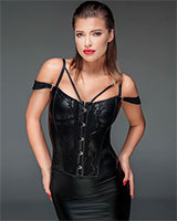 Powerwetlook and Lace Corset