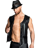 Matte Wetlook and PVC Waistcoat - up to Size 6XL