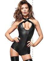Powerwetlook Teddy with 2-Way Crotch Zipper