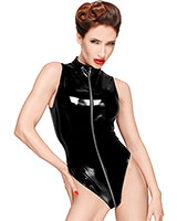 Decadence Gloss PVC Body with 3 Way Zipper - up to 3XL