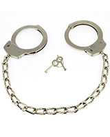 Steel Ankle Cuffs with Chain