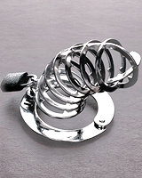 Chastity Cage with Spikes Inside - Stainless Steel